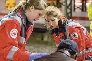 DRK Hilfe nach Unfällen oder Katastrophen